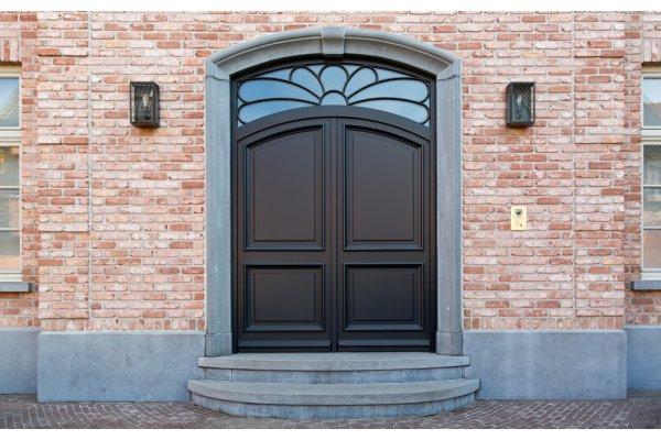 Moderne houten voordeur for Topdeuren barneveld